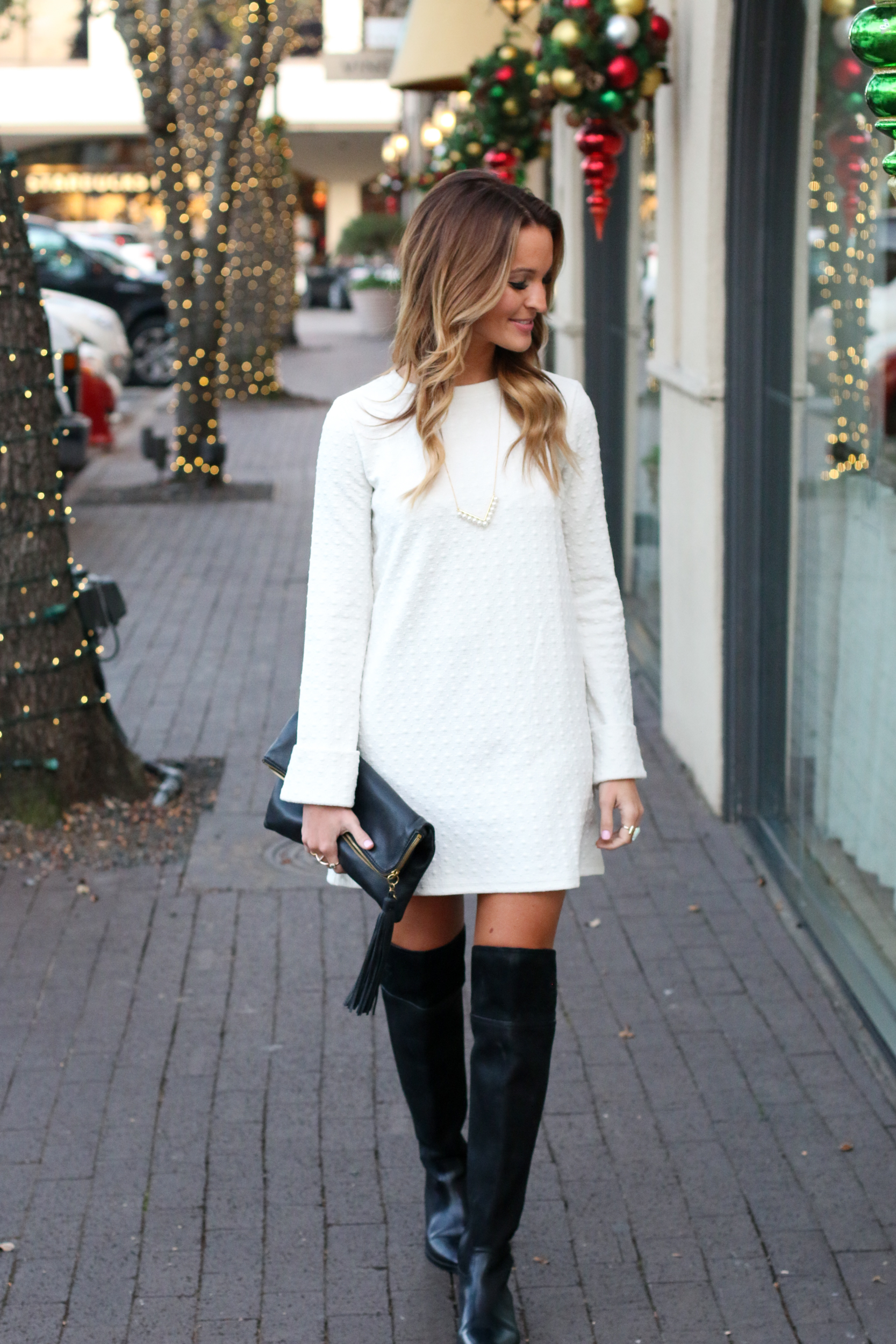 white holiday dress