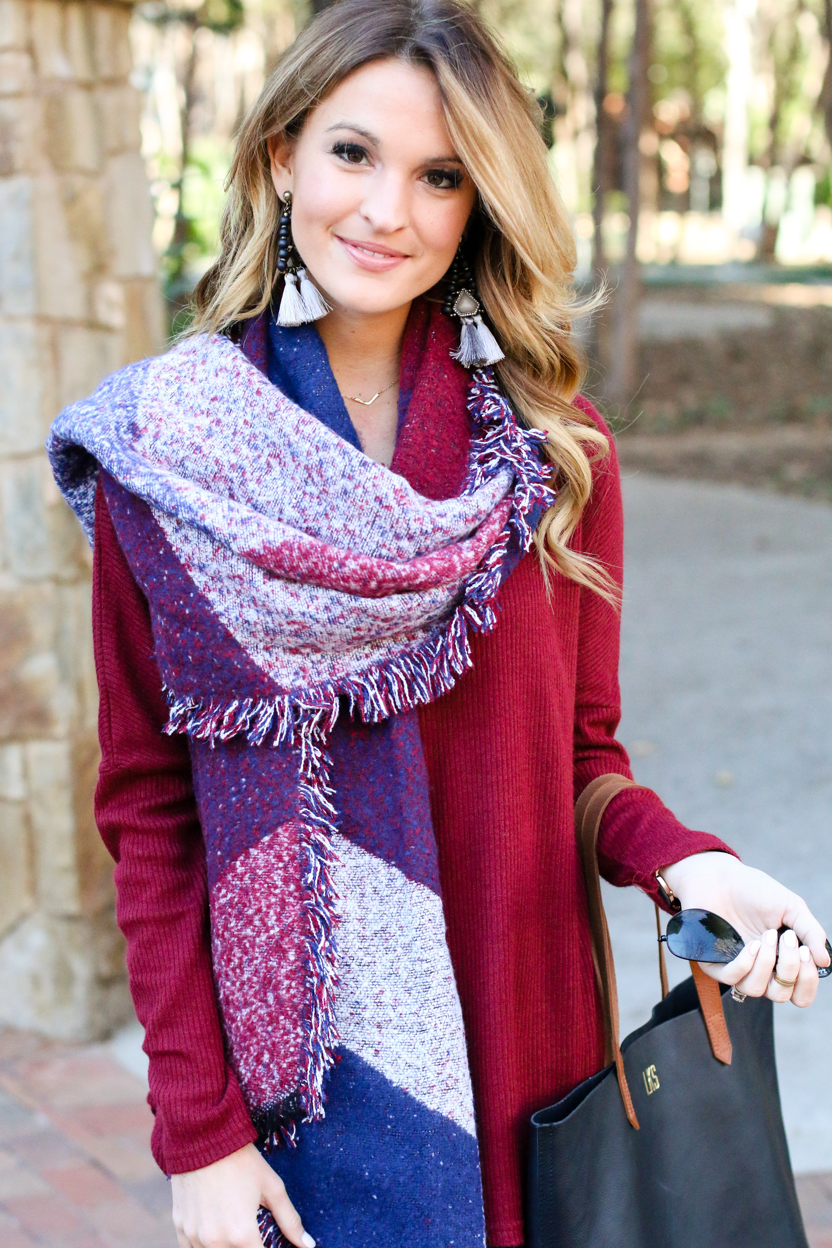 oversized sweater + world's coziest scarf