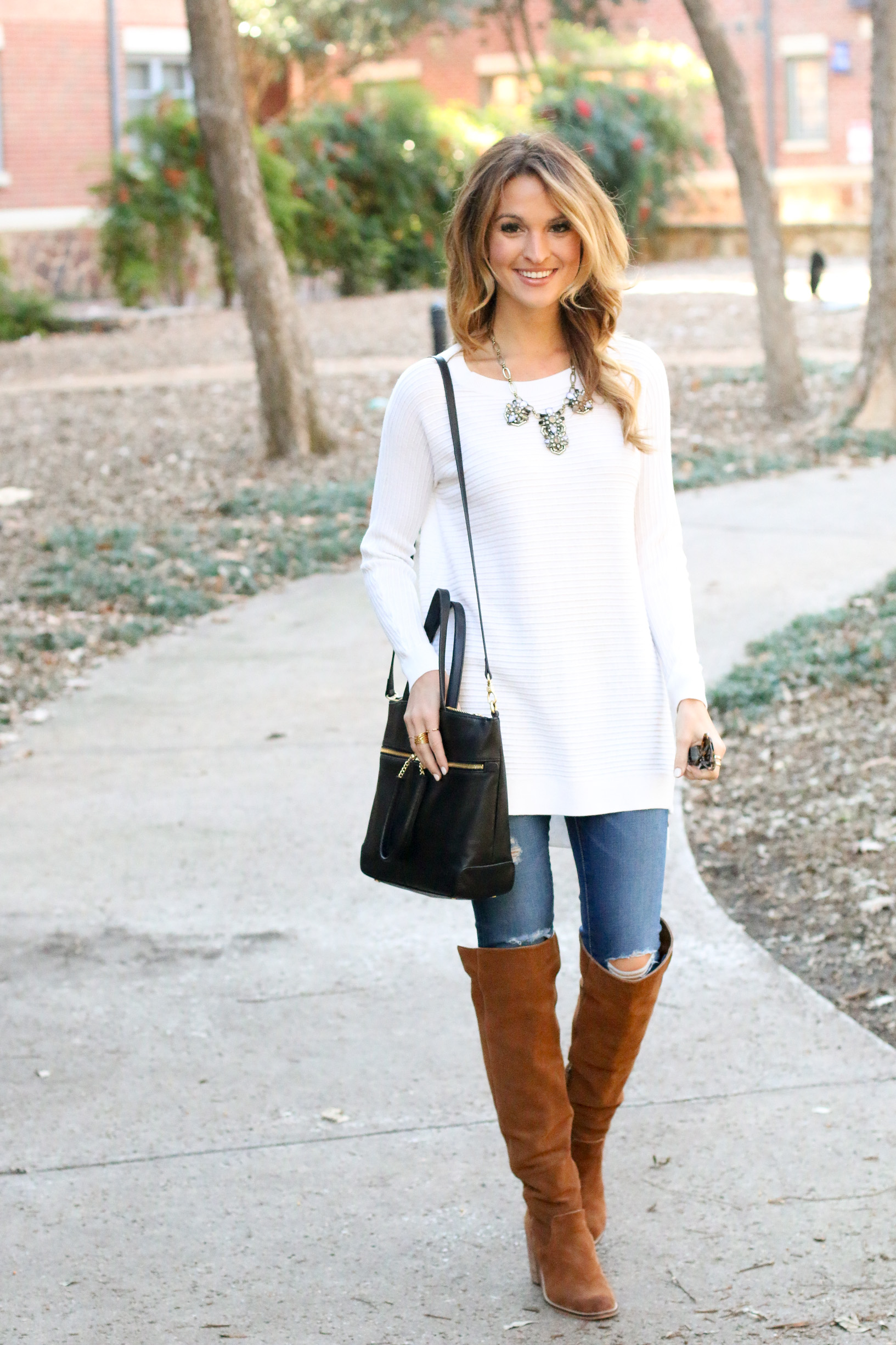 white tunic sweater: all day everyday