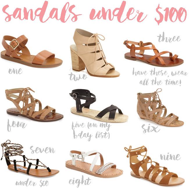 sandals under $100