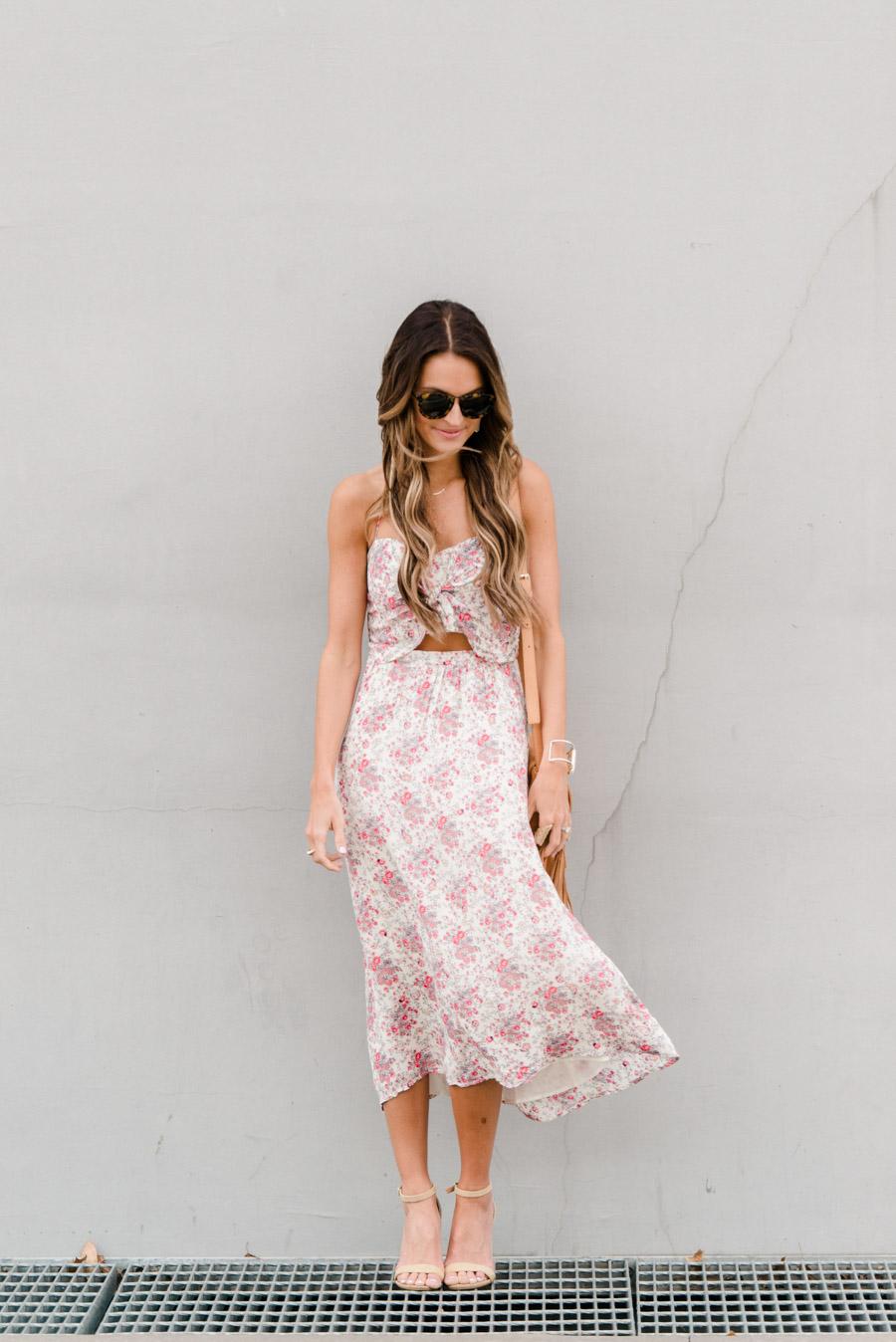 lauren kay sims floral tie front dress