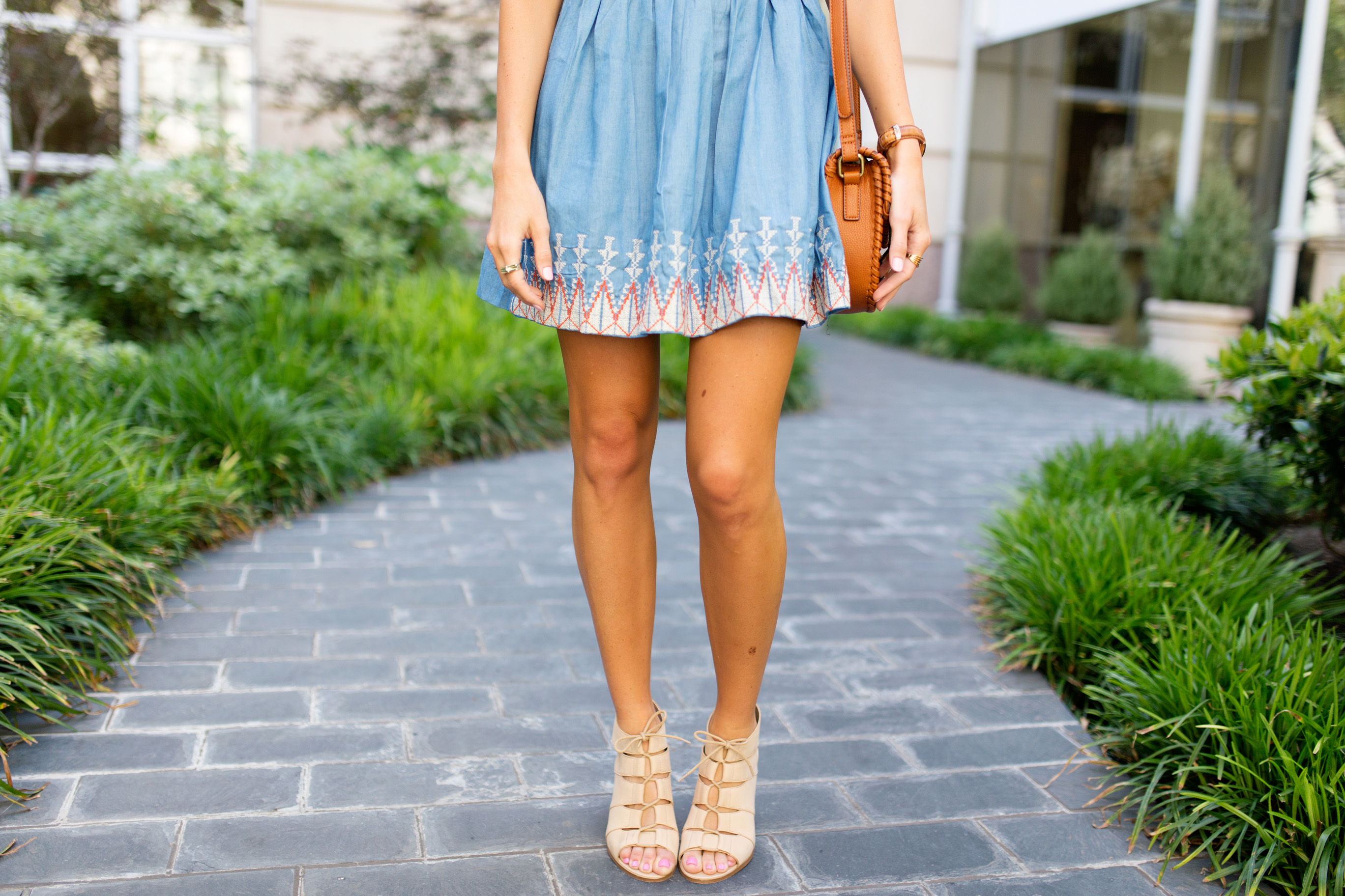 lauren sims chambray dress