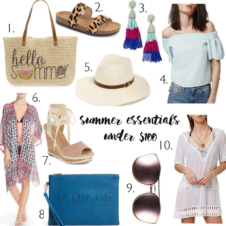 summer essentials under $100