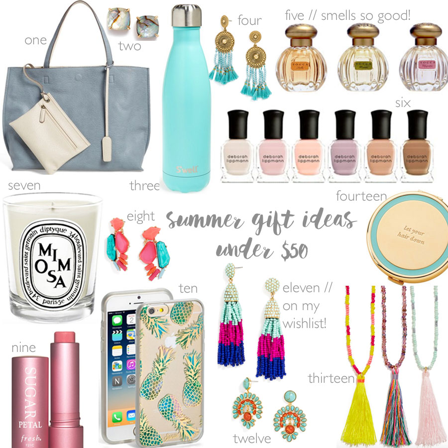 summer + graduation gift ideas for her