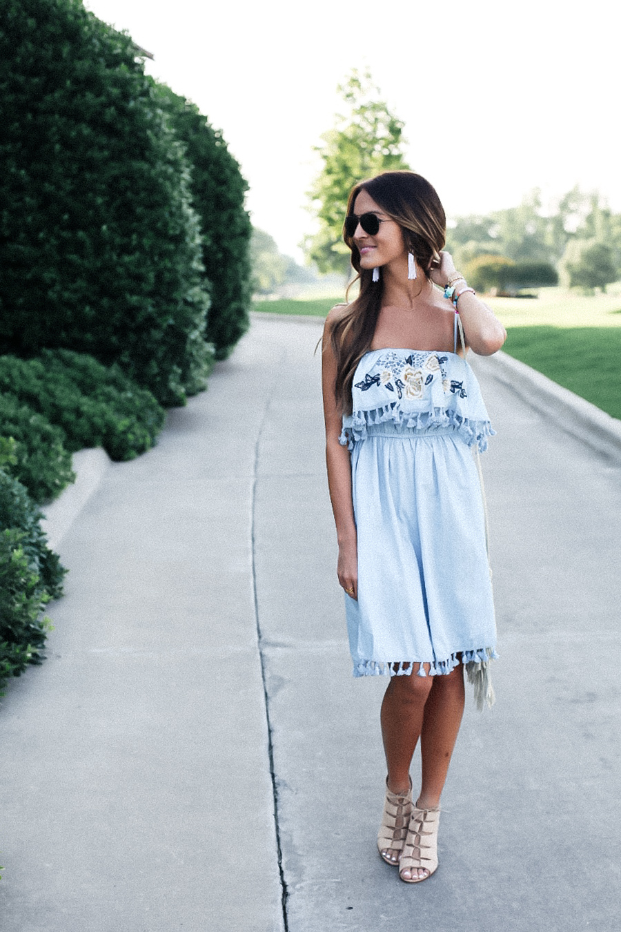 tassel dress + real talk about body image