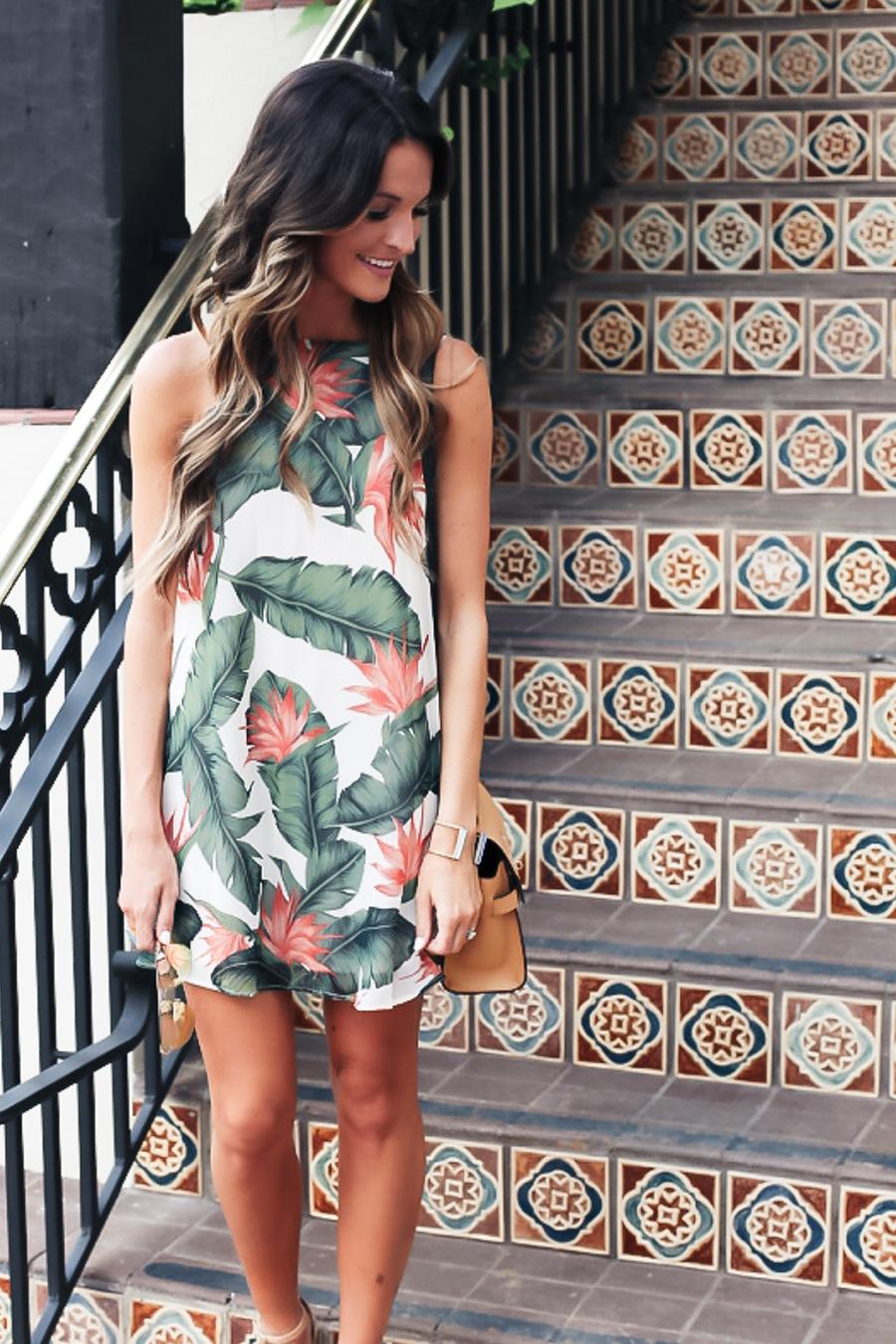 Palm Leaf Dress Lauren Kay Sims