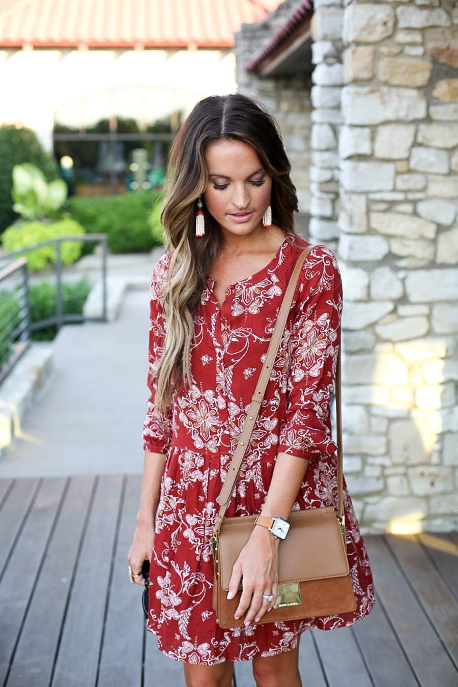 perfect transition dress + suede heels