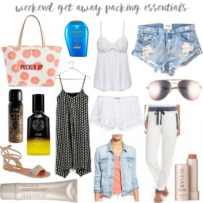 weekend getaway packing essentials