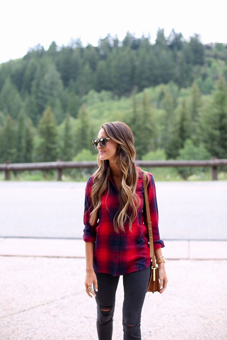 red and blue plaid