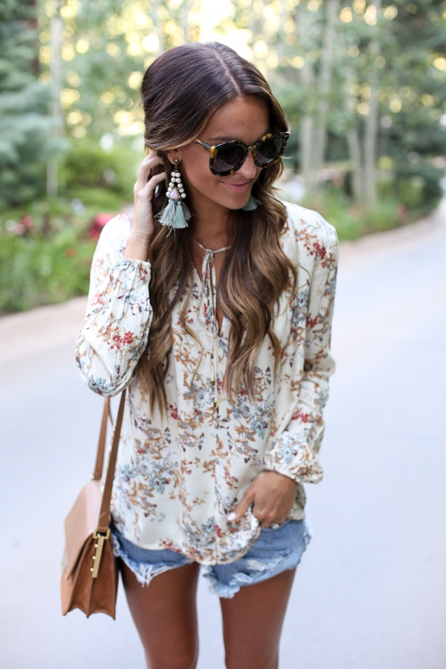 floral boho top and staying inspired