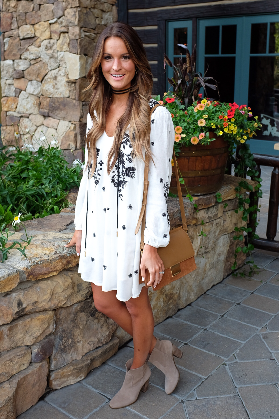 boho dress and booties