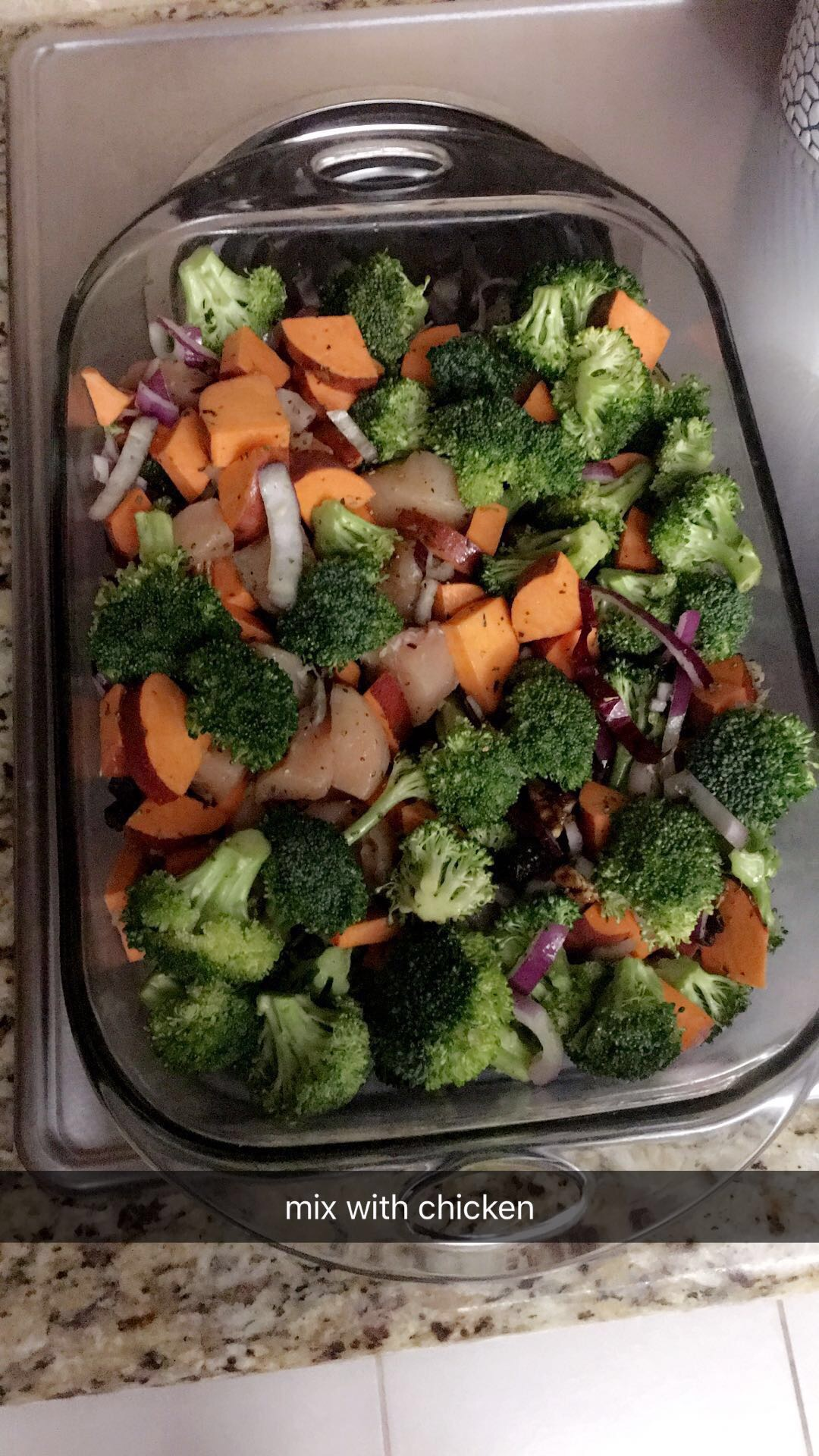 lauren sims sweet potato broccoli chicken bake