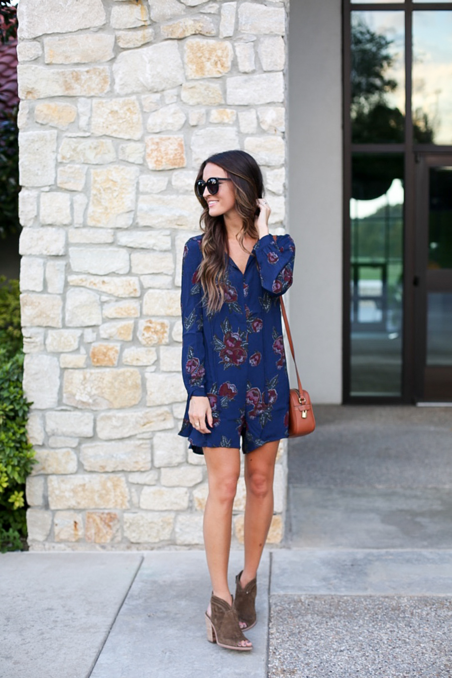 floral romper for fall