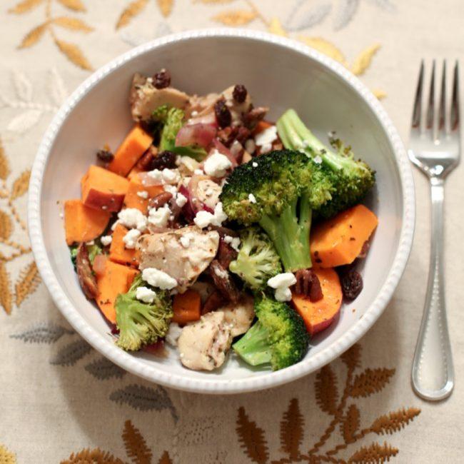 lauren sims sweet potato broccoli chicken bake