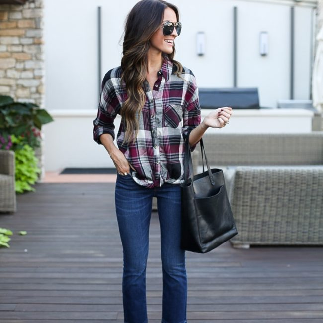 lauren sims cropped flare jeans