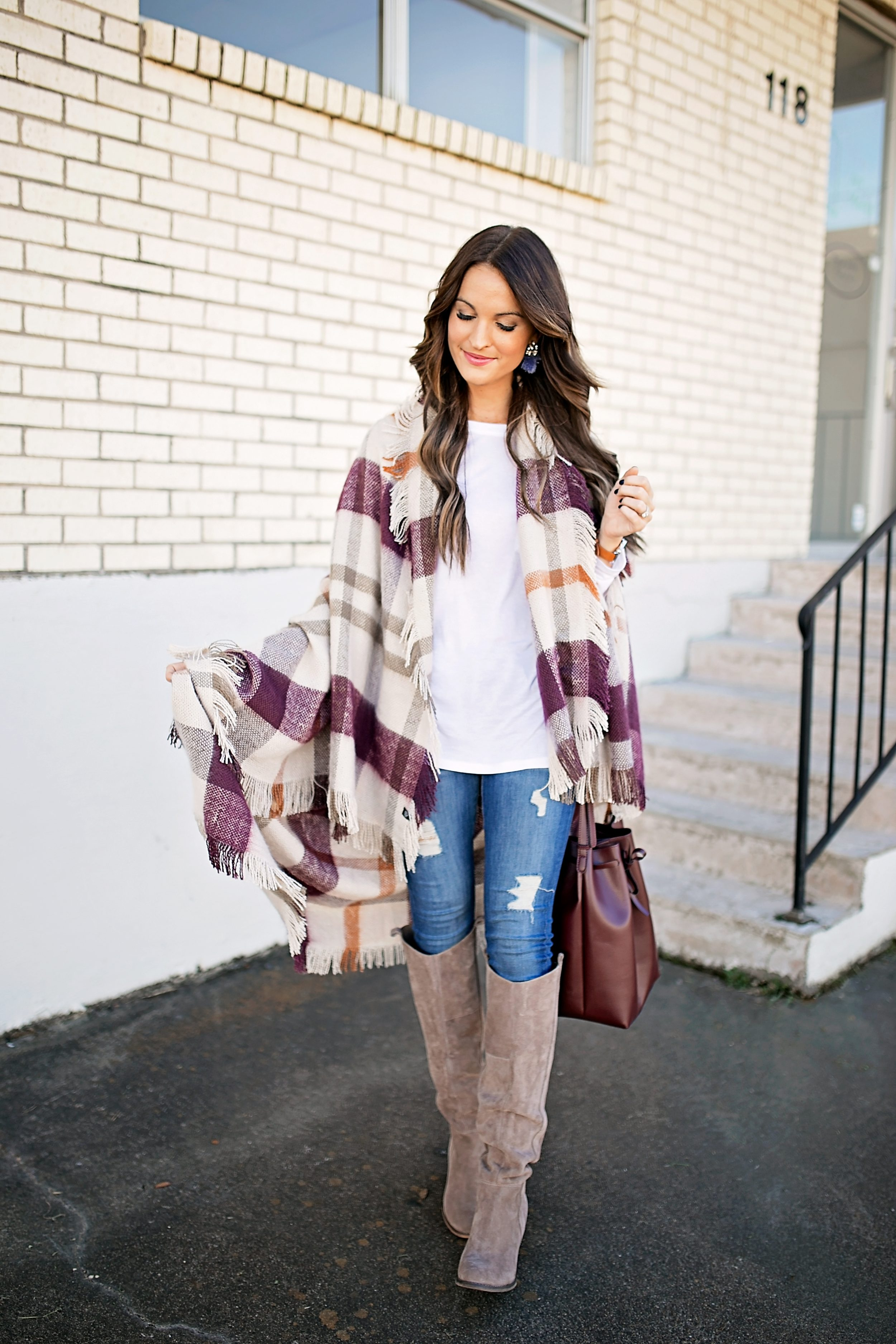 plaid blanket wrap + thanksgiving week