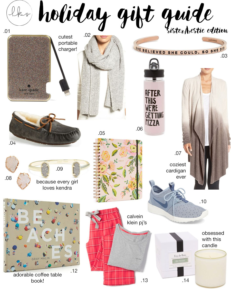 holiday gift guide: for your sister/bff