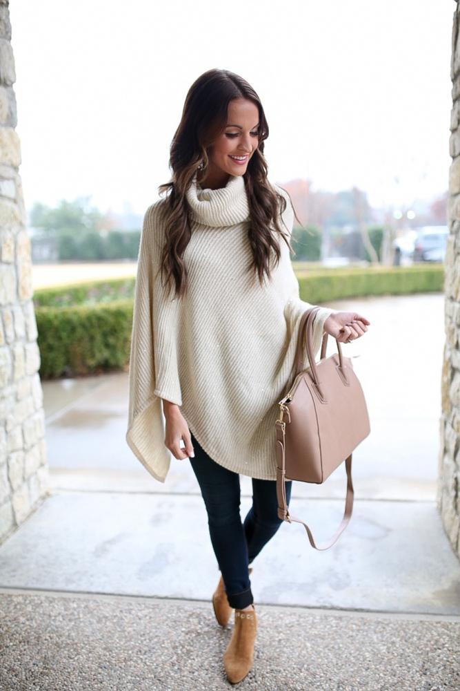 anthro sequin poncho sweater
