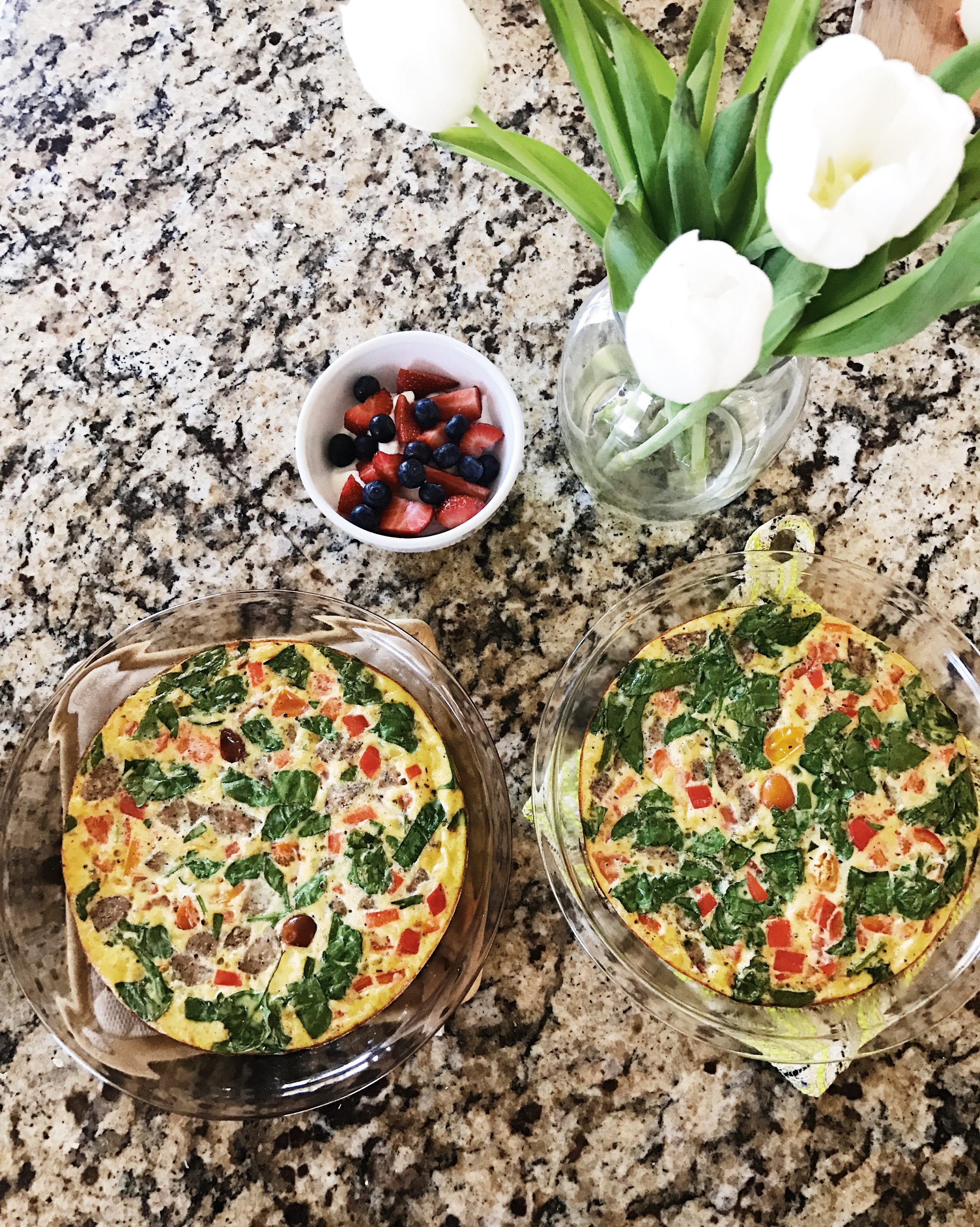 egg frittata + healthy breakfast ideas