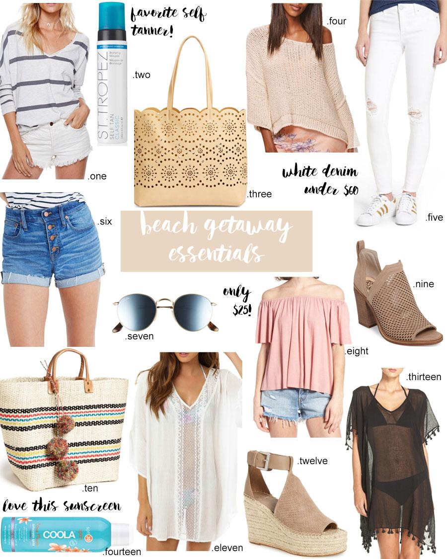 beach getaway essentials