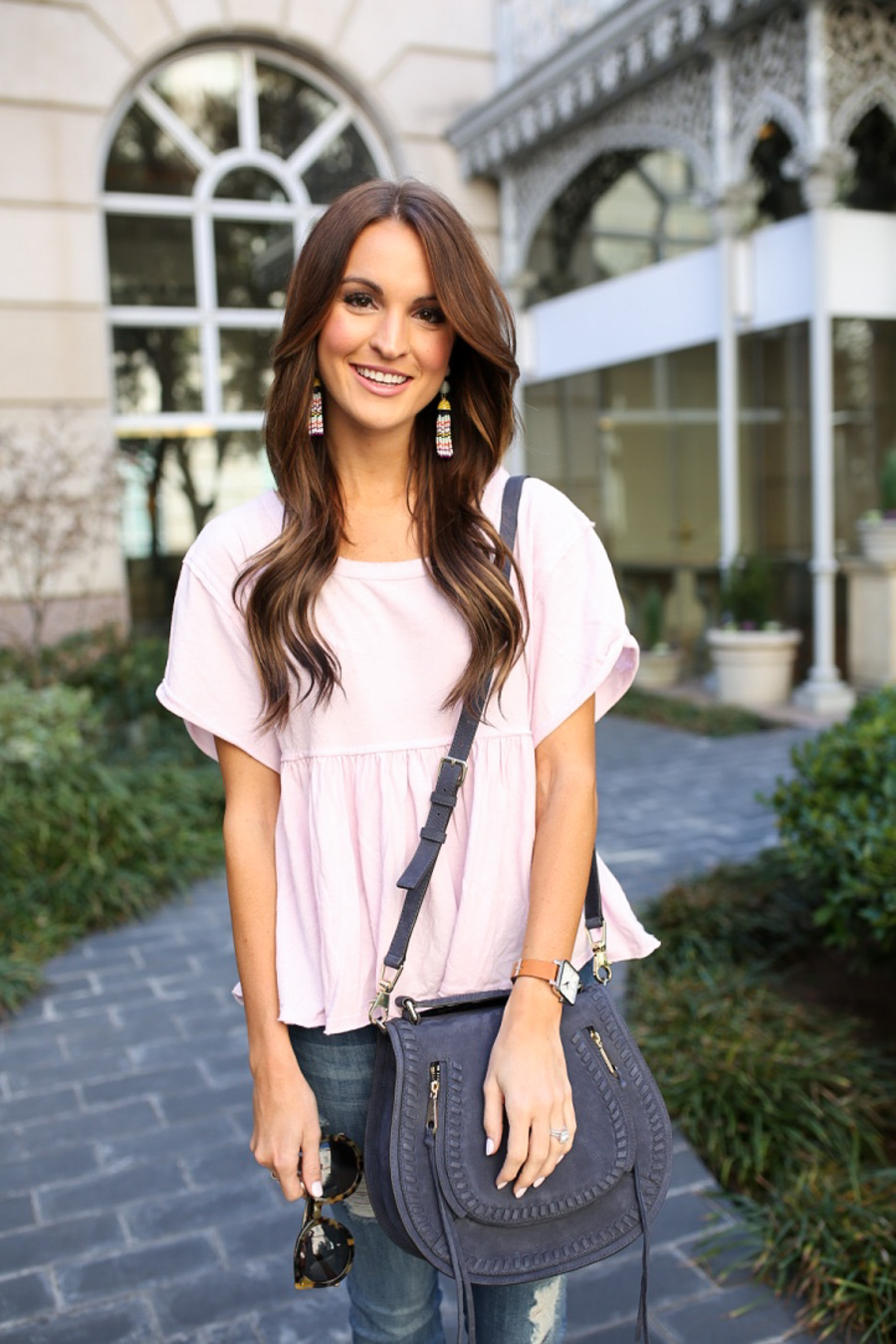 lauren sims peplum top