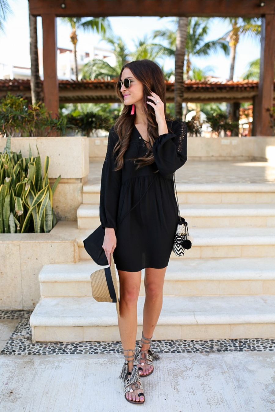 lauren sims black babydoll dress