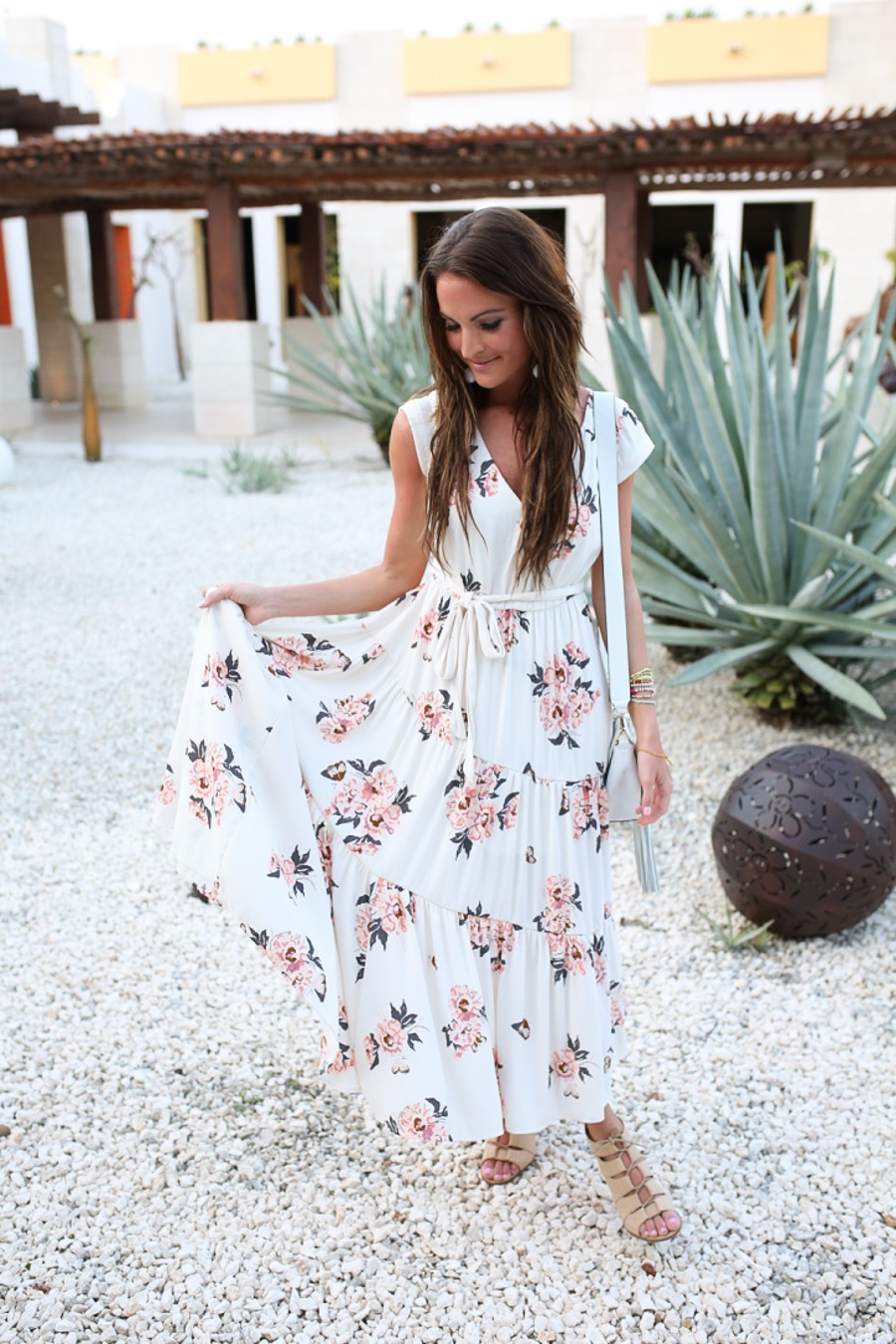 lauren sims free people floral maxi dress