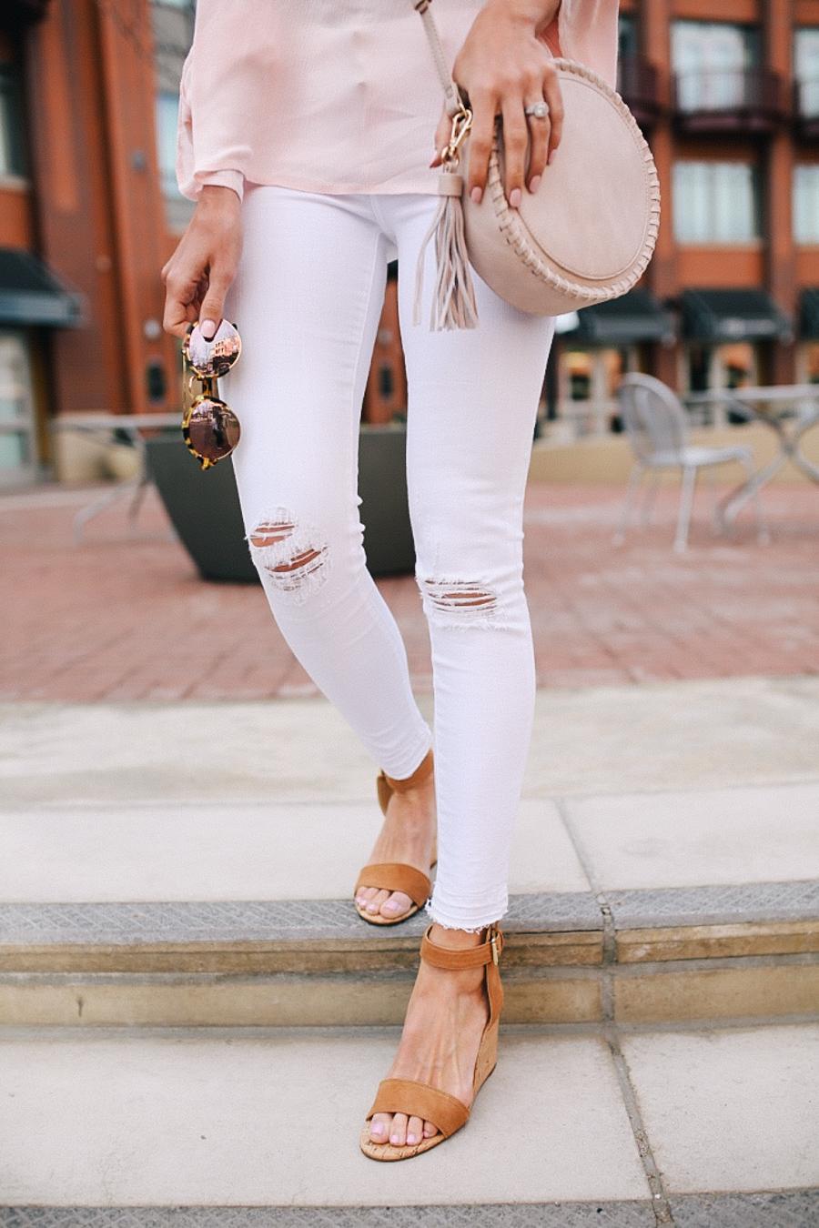 lauren sims white skinny jeans