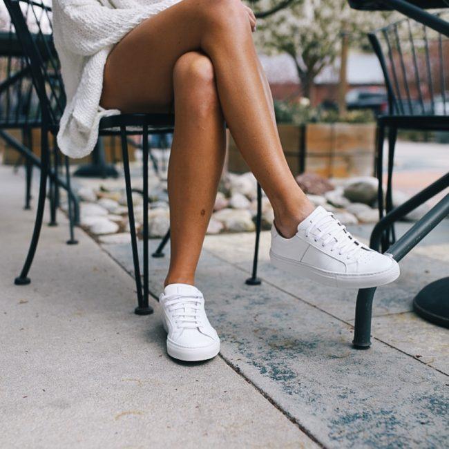 lauren sims white sneakers