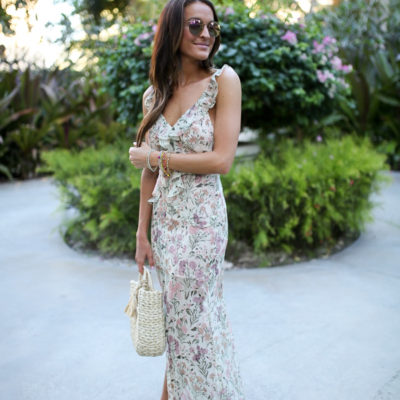 ruffle maxi dress in turks & caicos