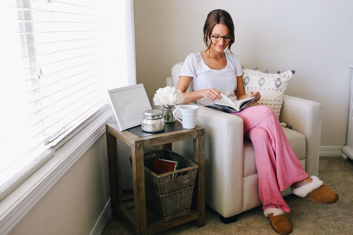 bedroom reading nook - Lauren Kay Sims
