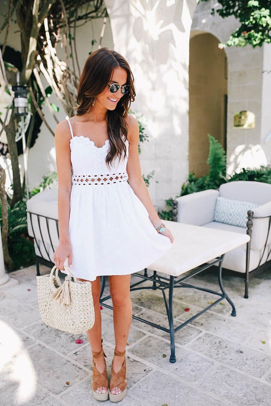 lauren sims little white dress