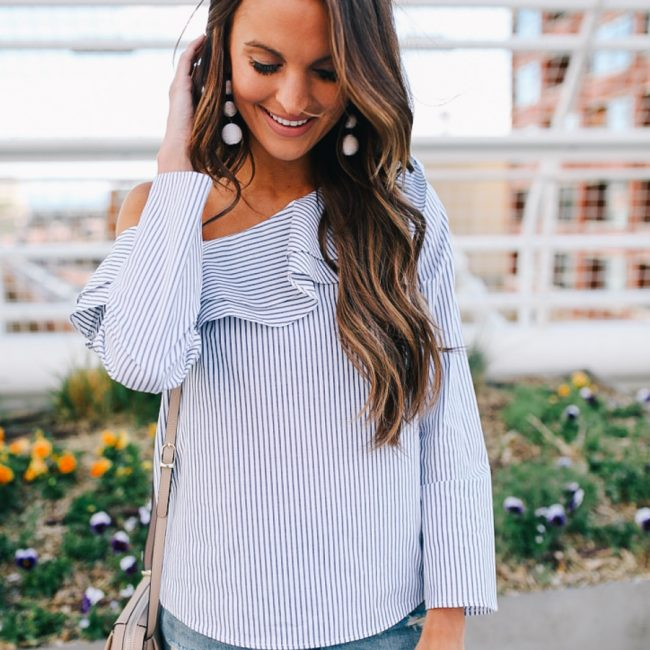 lauren sims blue and white summer trend