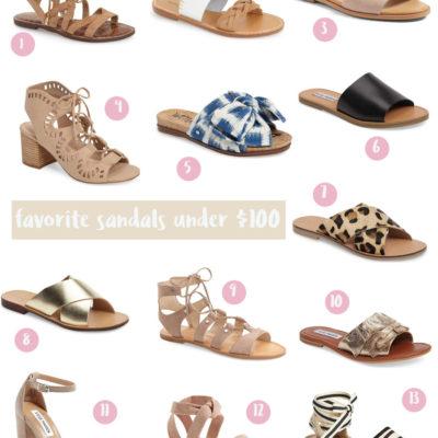 favorite sandals under $100