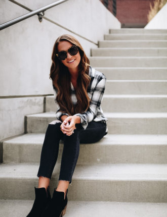 lauren sims nordstrom anniversary sale plaid shirt