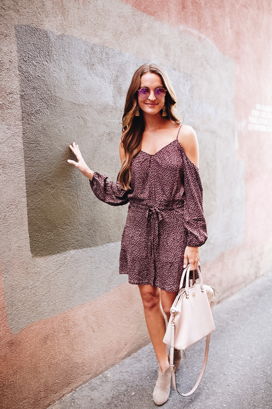 lauren sims boho fall dress