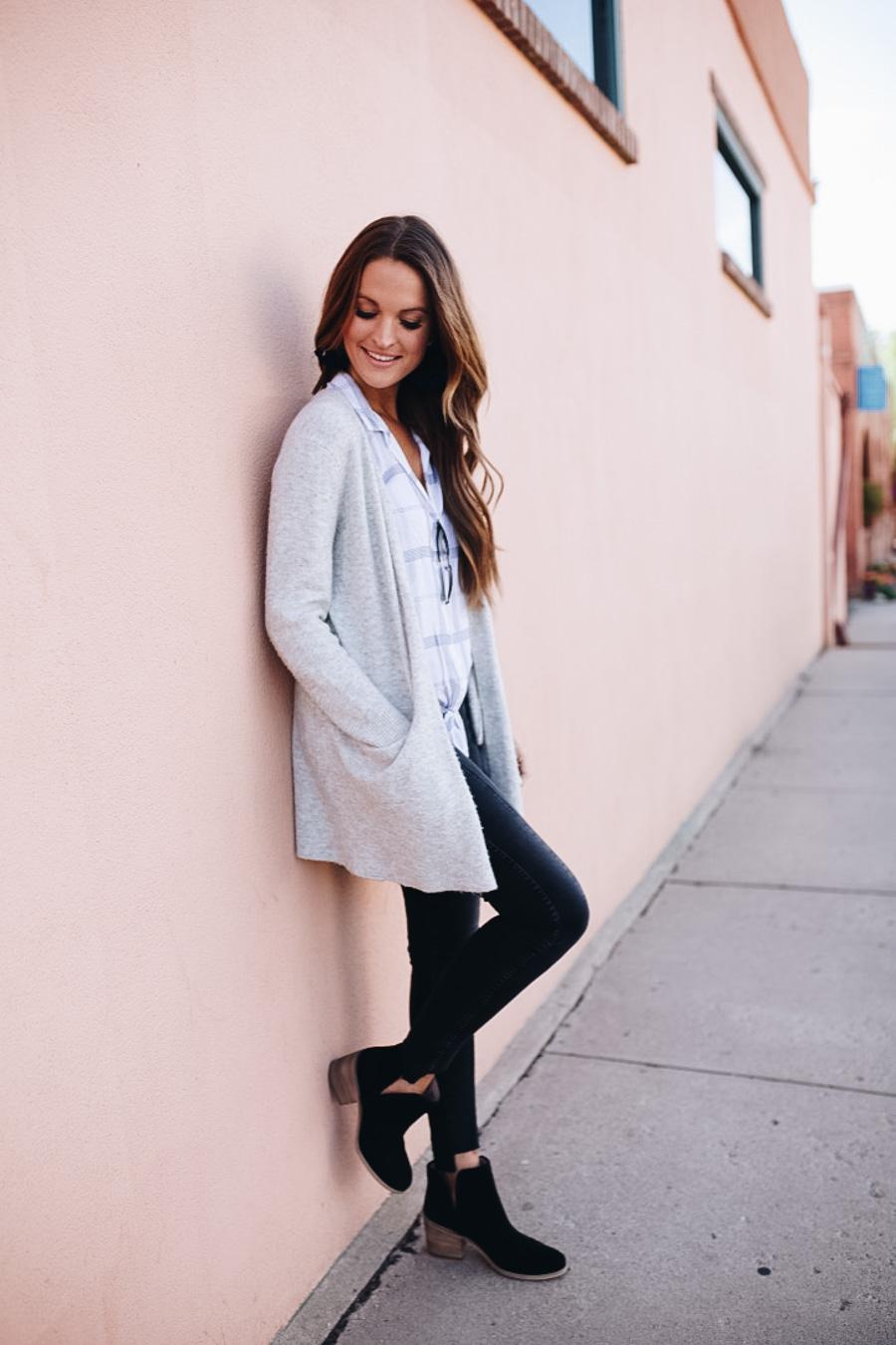 lauren sims anthropologie top black AG jeans