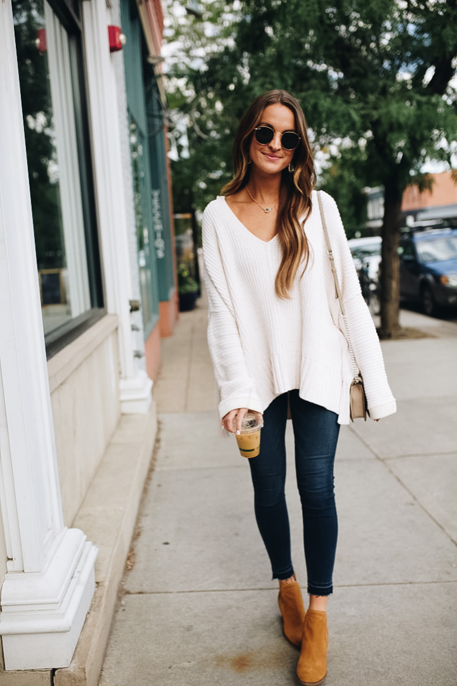 lauren sims white free people sweater