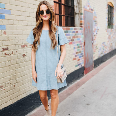 lattes with lauren + madewell denim dress