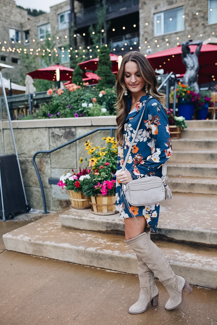 lauren sims fall floral dress