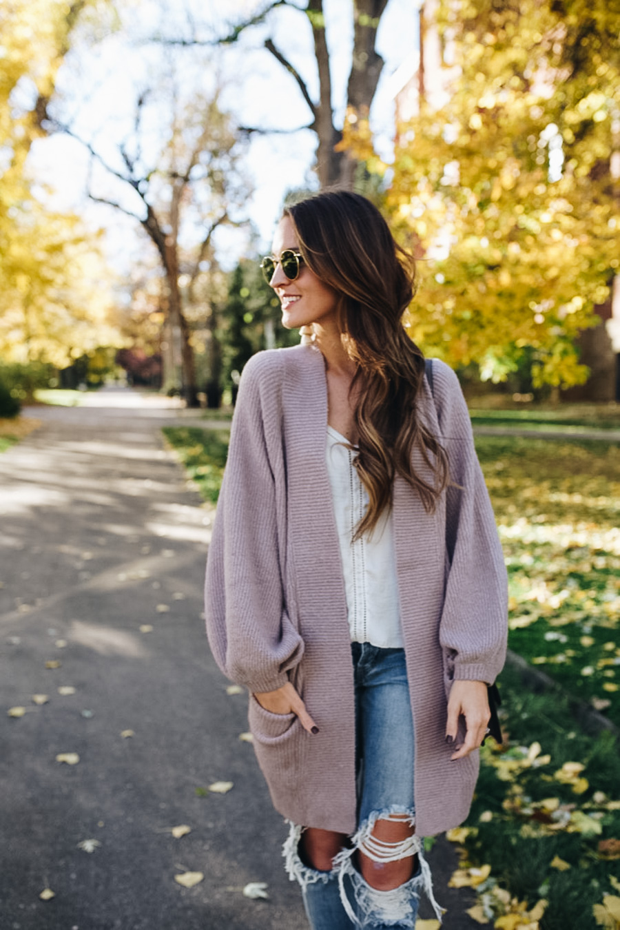lauren sims oversized cardigan