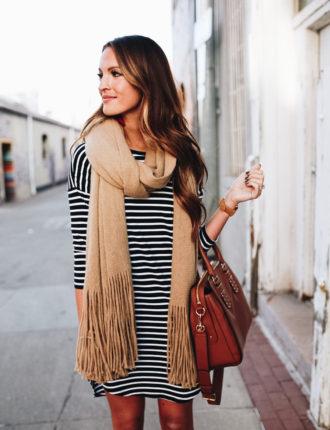 lauren sims camel scarf