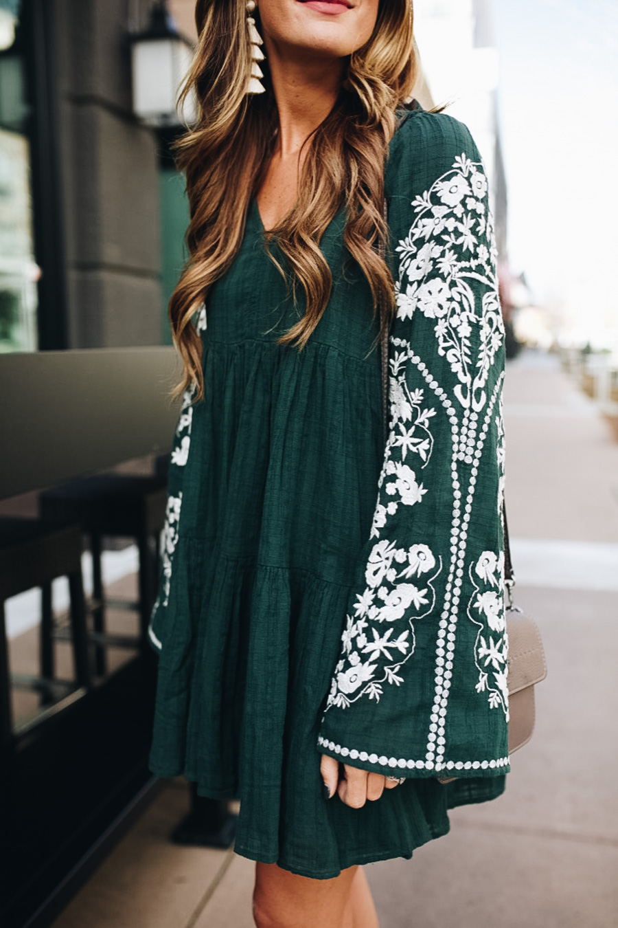 lauren sims embroidered free people dress