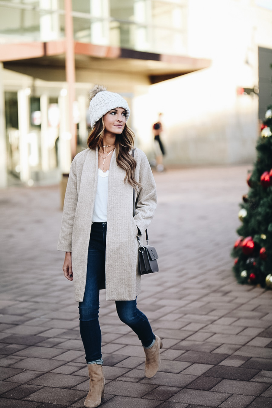 lauren sims herringbone coat