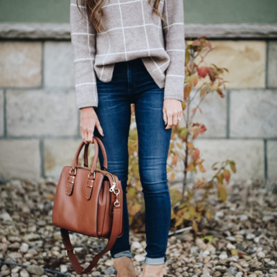 windowpane sweater + most flattering denim