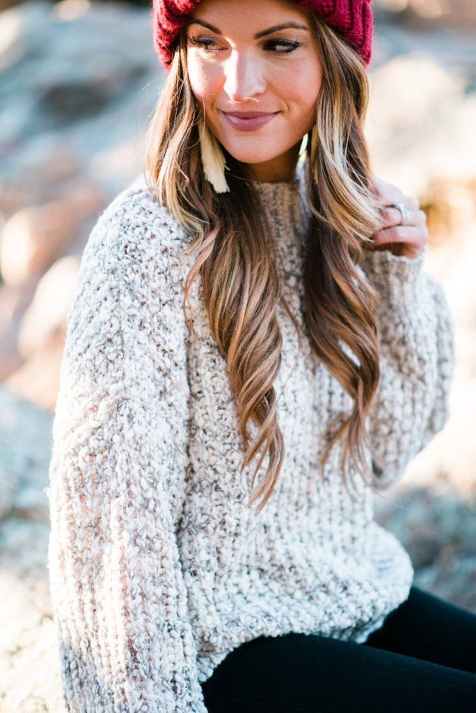 lauren sims chunky sweater