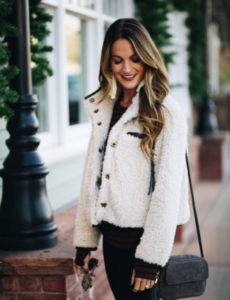 lauren sims sherpa jacket
