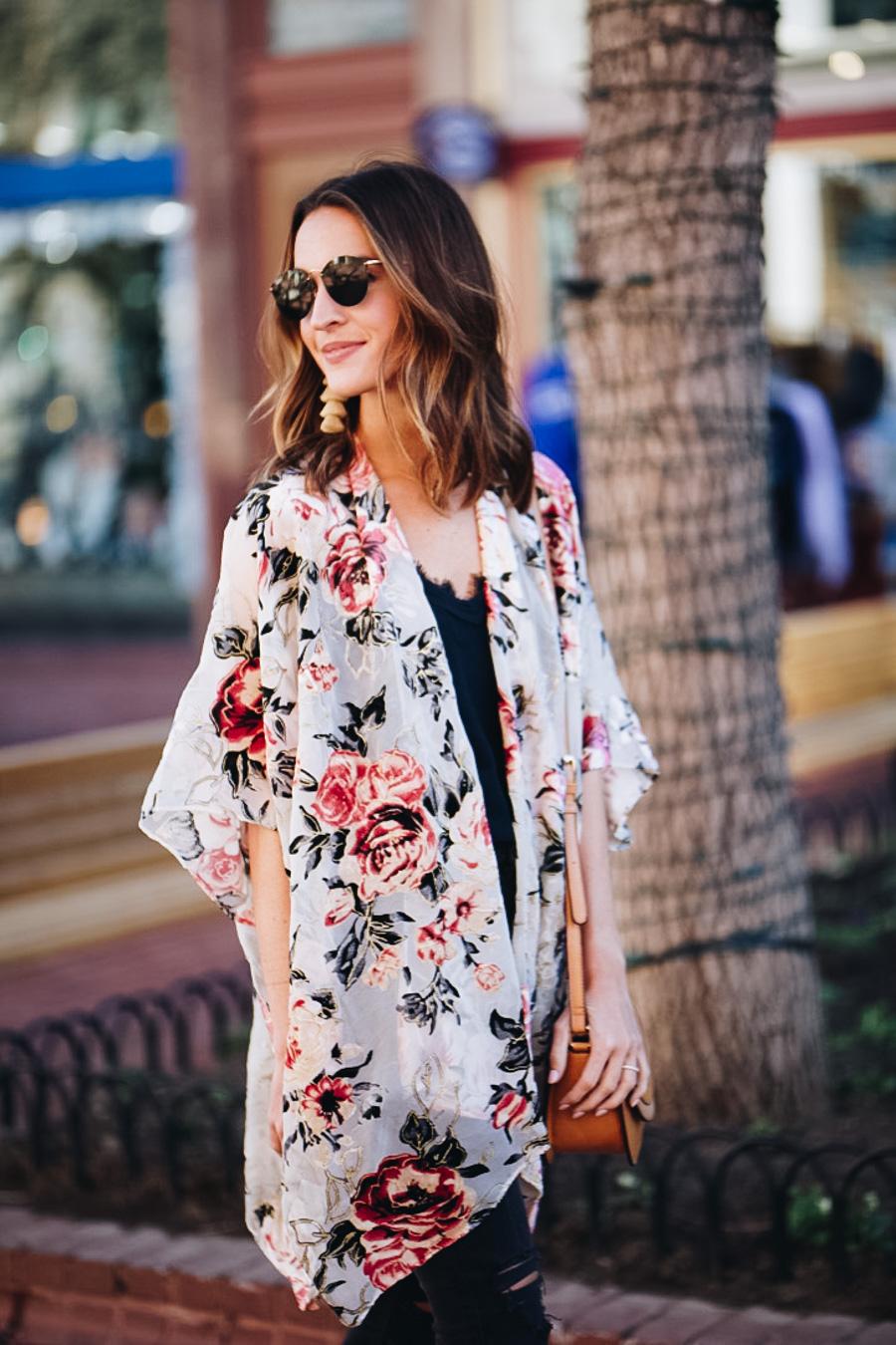 lauren sims velvet kimono