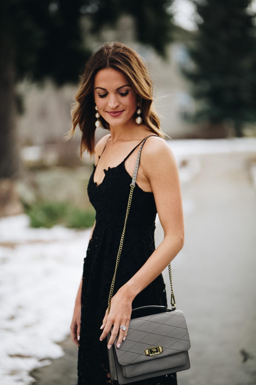 lauren sims lace little black dress