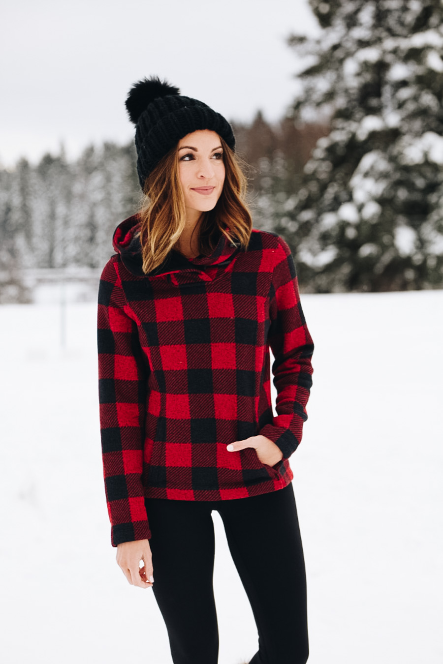 lauren sims north face pullover